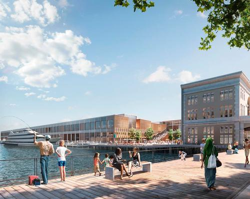 The transformed maritime landmark will boast a wealth of public amenities, such as walkways, courtyards, and dining outlets. / Image by Cityscape Digital for Pembroke