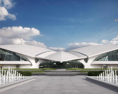 The original air terminal was conceived by Finnish architect Eero Saarinen and opened in 1962. / Courtesy of MCR