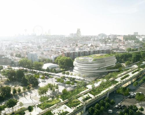 The expansive space – set to occupy a vacant lot in the 19th arrondissement of Paris – will support disabled athletes and promote ideals of inclusivity. / Courtesy of GA Smart Building