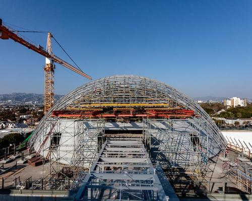 New construction images released by the museum show it is close to completion / Joshua White Pictures / Academy Museum