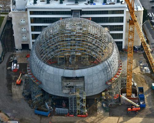 Its 130ft sphere is now fully formed and awaiting its glass cladding / Joshua White Pictures / Academy Museum
