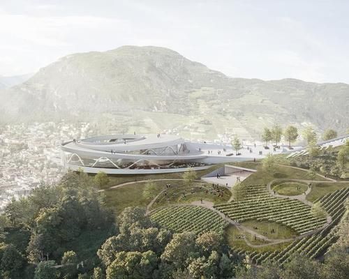 The museum will be situated atop Mount Virgolo – an archaeologically significant area that has been virtually inaccessible since the 1970s. / Courtesy of moka-studio and Snøhetta