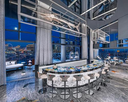 The atmospheric villa is reportedly the most expensive hotel suite in the world. / Courtesy of the Palms Casino Resort