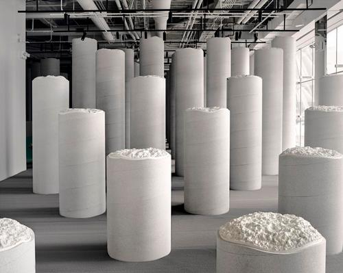 Lost and Found is a grid-like 'forest' made up of columns of various heights that emerge from the ground which aims to encourage visitors to interact with the space physically and emotionally / Snarkitecture
