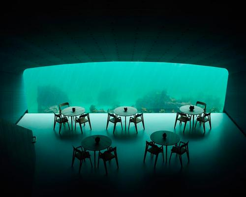 A kind of real-life Nautilus, Under is the world's first underwater restaurant and research laboratory. / Photo by Ivar Kavaal