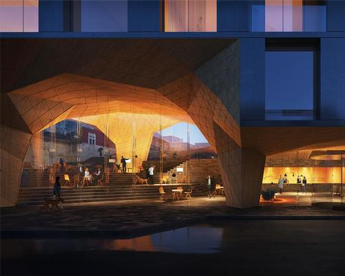 Henning Larsen unveil plans to create sea cave-like extension for Faroese hotel