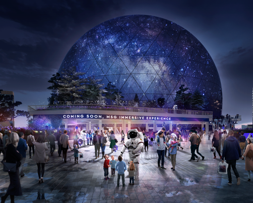 The massive spherical structure is designed by Populous. / Courtesy of The Madison Square Garden Company
