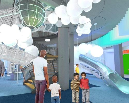A rendering of the Dream Machine concept at the National Children's Museum