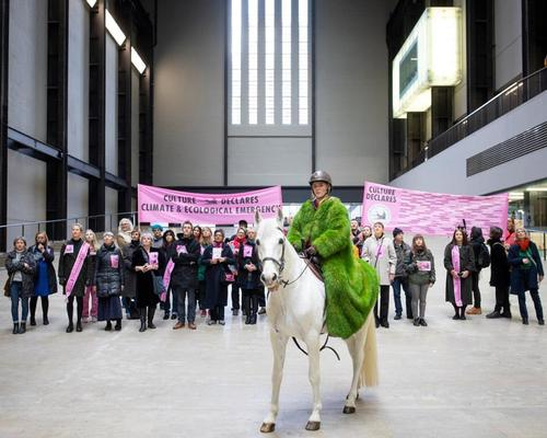 Culture Declares Emergency has already undertaken a horse-led procession in London, complete with stops to hold short performances / Culture Declares Emergency