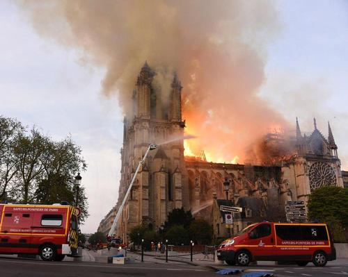 The 850-year-old Gothic building caught fire on Monday (15 April) and its spire and roof were badly damaged as a result