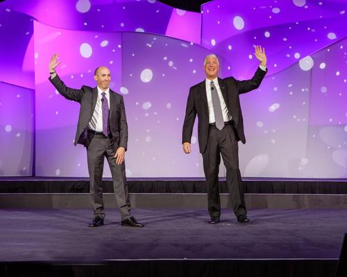 Hal McEvoy (right) with new IAAPA chair David Rosenberg at a recent event