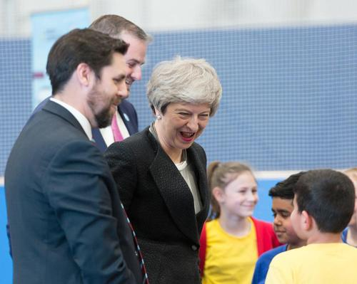 PM Theresa May opens Burnley's new £4.5m Leisure Box