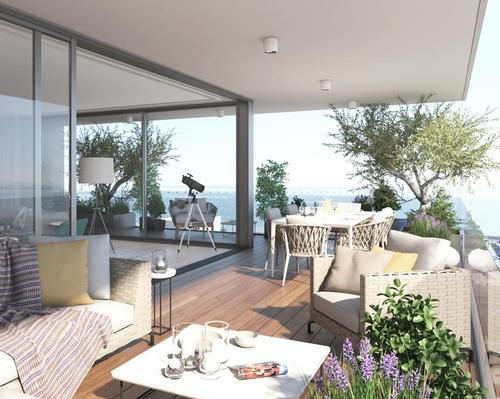 Apartments will feature spacious garden terraces and other indoor-outdoor areas.