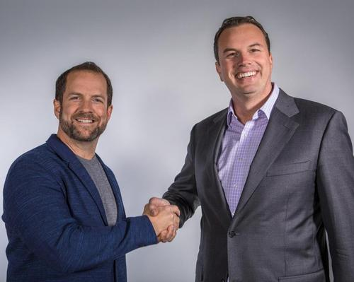 Mindbody CEO Rick Stollmeyer (left) with Josh McCarter, who will take over responsibility for the company's revenue-generating activities