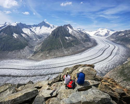 The Grosser Aletschgletscher in the Swiss Alps is one of many glaciers under threat worldwide
