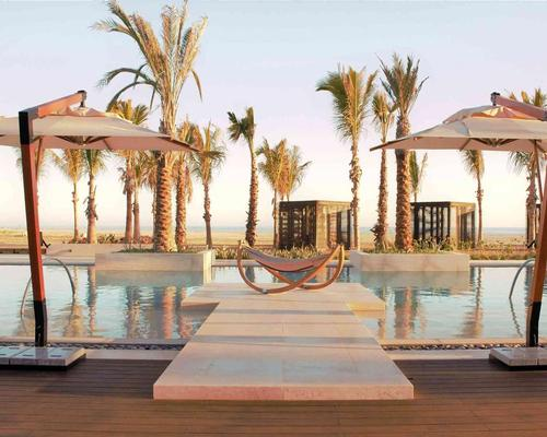 Nobu Los Cabos features spa with outdoor hydrotherapy garden