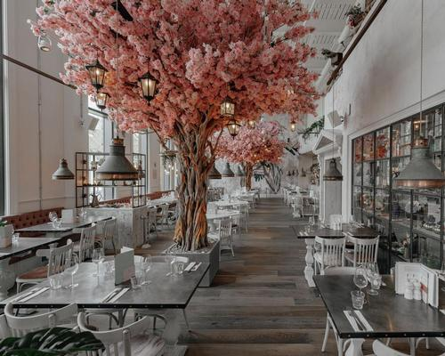 NWTC brings out floral-themed restaurant with life-size cherry blossoms