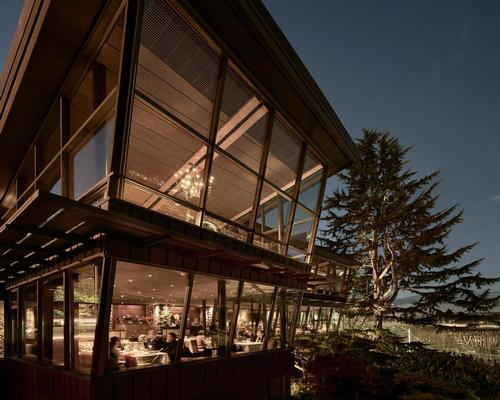 Among the winners was Canlis – a cantilevered restaurant in Washington State that conjures up the design style of Frank Lloyd Wright. / Courtesy of Kevin Scott