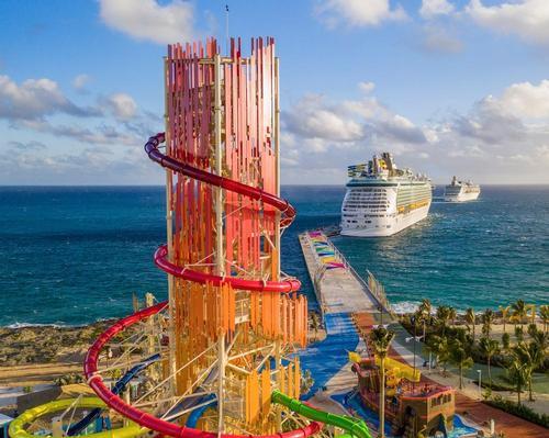 Perfect Day at CocoCay is anchored by North America's tallest waterslide