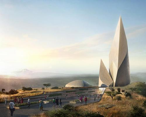 The museum will occupy a 300-acre plot of land that was donated by Leakey's family. / Courtesy of Studio Libeskind