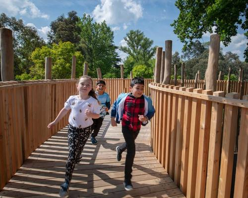 Kew Gardens opens giant natural play zone