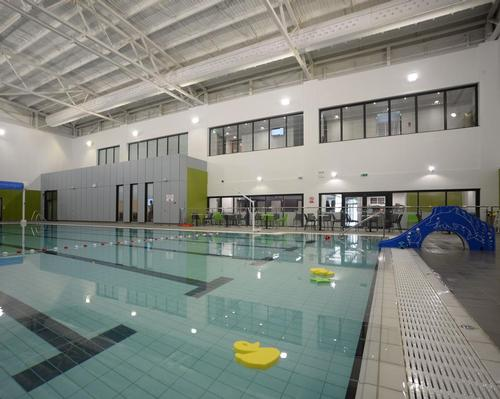 The 25m pool and spa were constructed within the existing structure at Monmouth Leisure Centre