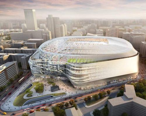 FCC is expected to begin work on Santiago Bernabéu immediately, with an anticipated completion date of August 2022. / Courtesy of Real Madrid