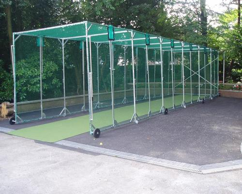 The nets are designed for sports facilities where space is at a premium