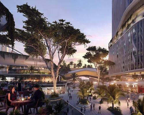 The 62-acre development will feature biking routes, sky gardens, public squares, a theatre, residential units, and retail outlets. / Courtesy of UNStudio