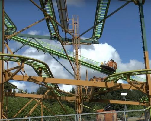 A park spokesperson confirmed the ride (pictured) will remain closed until a full investigation has taken place