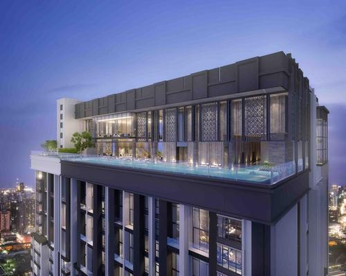 On-site amenities will include a fitness centre, an infinity pool, a garden, and multiple bars