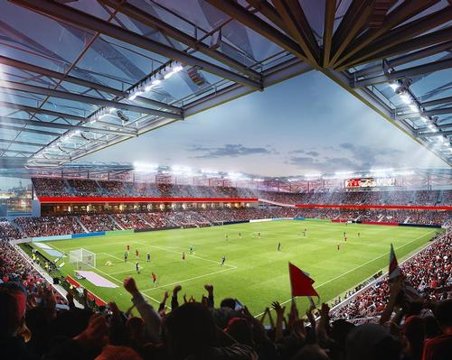 HOK and Snow Kreilich Architects reveal design concept for 25,000-seat stadium in St Louis