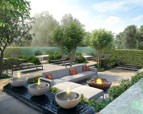 Cottonmill's spa garden was designed by landscape artist Ann Marie Powell
