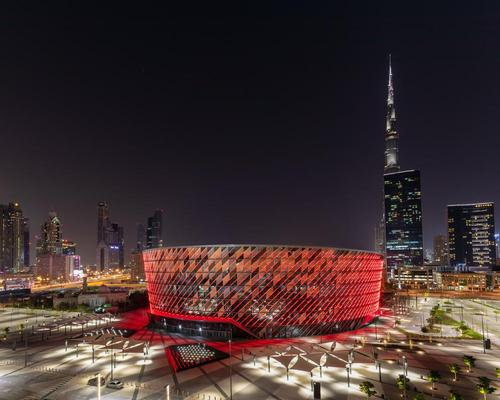 The 17,000-capacity facility is Populous' first project to be completed in the Middle East / Populous