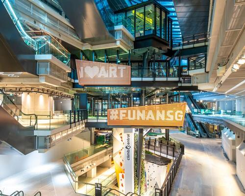 Designed by Woods Bagot, Funan Mall took 27 months to complete / Capitaland