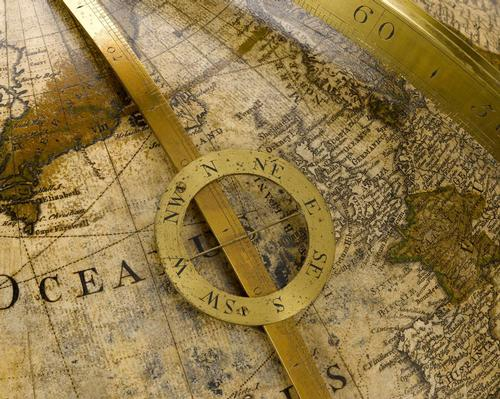Detail on the Willem Janszoon Blaeu globe from 1599 / Science Museum Group