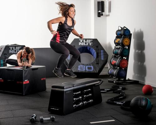 Jordan HIIT Bench combines unique programming with a storage solution