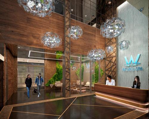 World Spa will feature one of the largest coed hydrothermal bathing areas in New York