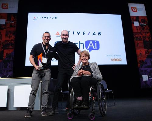 CoachAi (pictured with ukactive chair Tanni Grey-Thompson) was one of nine start-ups that took part in the 12-week ActiveLab programme