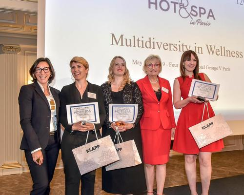 Vladi Kovanic (second from right) along with last year's Black Diamond award winner Erica D'Angelo (far left) and winners from this year: Virginie Fliegans, Diane Bernardin, and Anna Hencka-Zyser