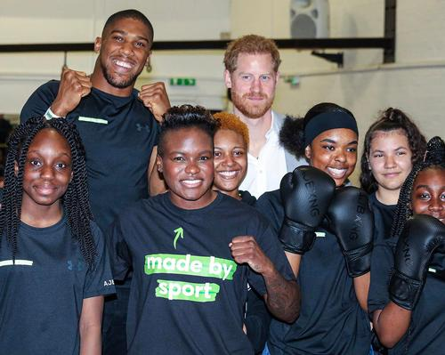 Prince Harry was joined at the launch of the Made By Sport campaign by former world champion boxed Anthony Joshua