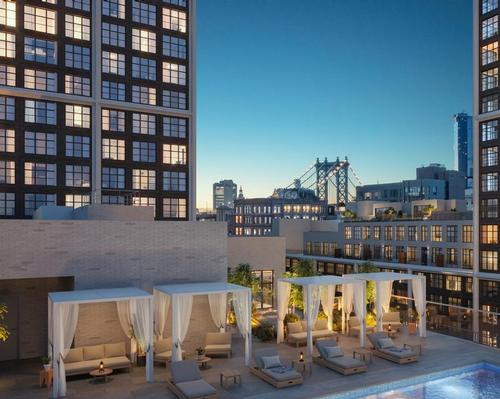 The expansive project is taking shape in Brooklyn's historic DUMBO neighbourhood
