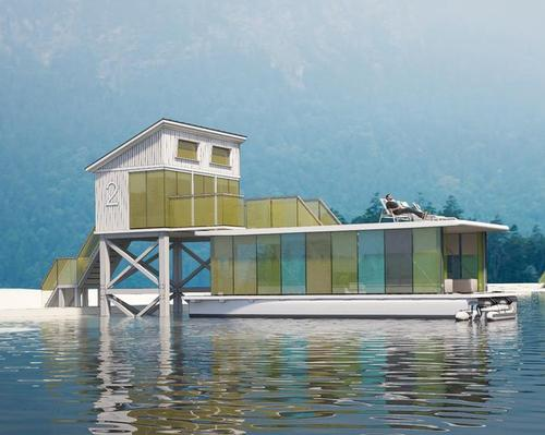 The Tiny Eco-Hotel would comprise a mooring station and a boat with living quarters / Max Zhivov