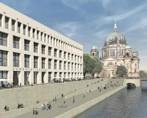 Architect's rendering of the east facade at the Humboldt Forum