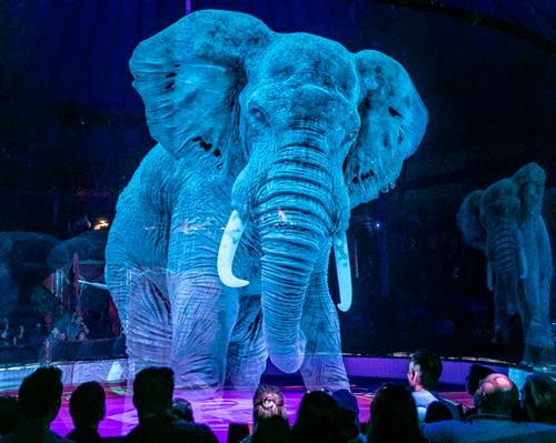 3D holographic animals perform a series of circus tricks / Circus Roncalli