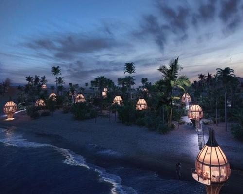 With a slogan of 'Sleep once and wake up forever,' Awakening Sanctuary will include a hotel designed by ARQMOV that follows the flow of nature's elements