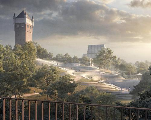 Described as a 'city mountain', the future park will overlook the North Sea / Henning Larsen