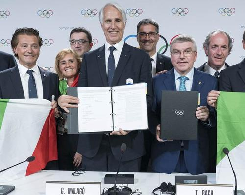 Milan-Cortina received 47 out of a total of 82 votes cast by IOC members
