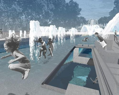 The future aquatic centre will be located on Barcelona's waterfront