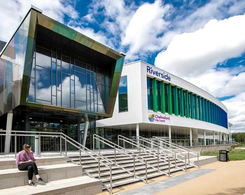 The Riverside Leisure Centre in Chelmsford has been awarded a 'very good' BREEAM sustainability rating
